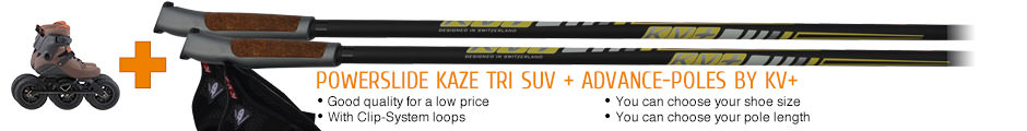 Good quality for a low price, with Clip-System loops, you can choose your shoe size, you can choose your pole length